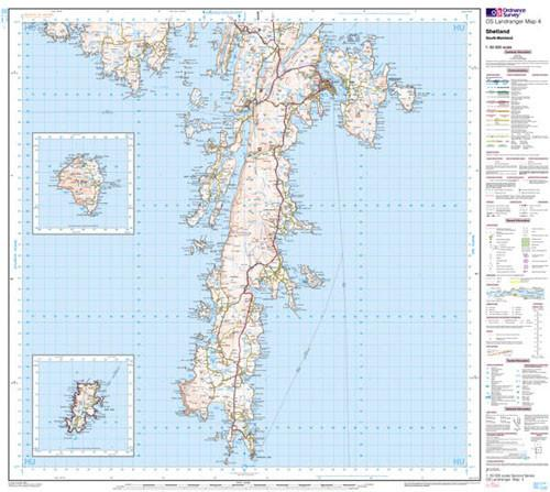 Folded Maps - Shetland South Mainland Landranger Map - Ordnance Survey