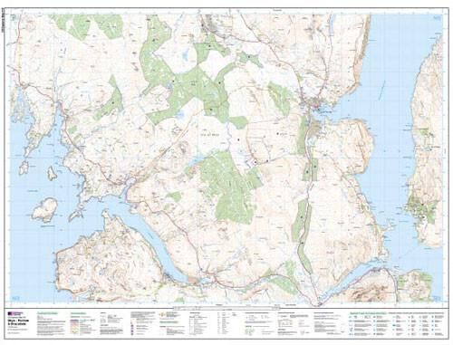 Folded Maps - Skye Portree Bracadale Explorer Map - Ordnance Survey