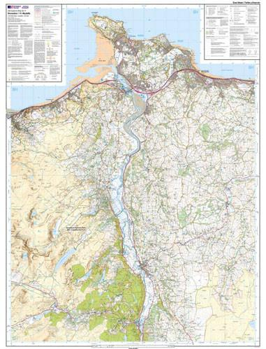 Folded Maps - Snowdon Conwy Valley Explorer Map - Ordnance Survey