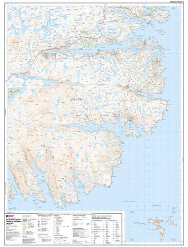 Folded Maps - South East Lewis Explorer Map - Ordnance Survey
