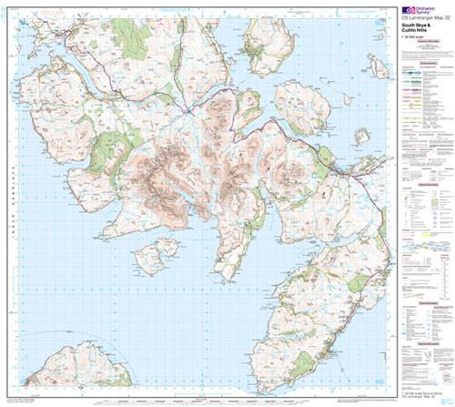 Folded Maps - South Skye Cuillin Hills Landranger Map - Ordnance Survey