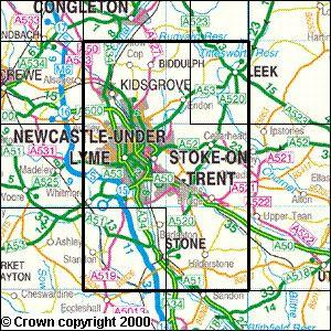 StokeonTrent Explorer Map Ordnance Survey Map Marketing
