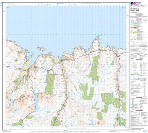 Folded Maps - Strathnaver Bettyhill Tongue Landranger Map - Ordnance Survey