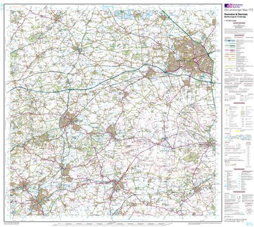 Folded Maps - Swindon Devizes Marlborough Landranger Map - Ordnance Survey