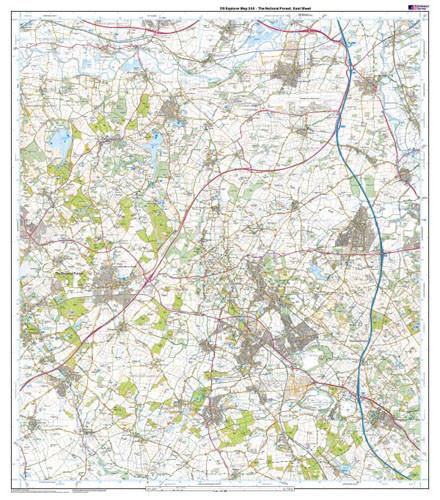Folded Maps - The National Forest Explorer Map - Ordnance Survey