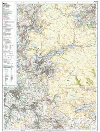 Folded Maps - The Peak District Dark Peak Area Explorer Map - Ordnance Survey