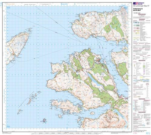 Folded Maps - Tobermory North Mull Landranger Map - Ordnance Survey