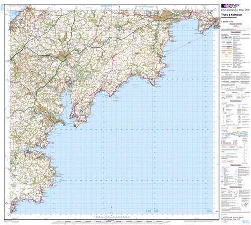 Truro Falmouth Roseland Landranger Map Ordnance Survey Map Marketing