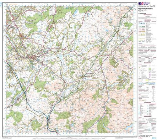 Folded Maps - Upper Clyde Valley Biggar Landranger Map - Ordnance Survey