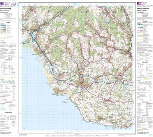 Folded Maps - Vale Of Glamorgan Landranger Map - Ordnance Survey