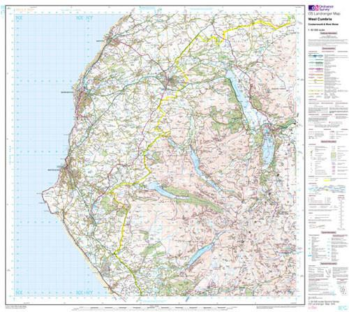 Folded Maps - West Cumbria Cockermouth Landranger Map - Ordnance Survey