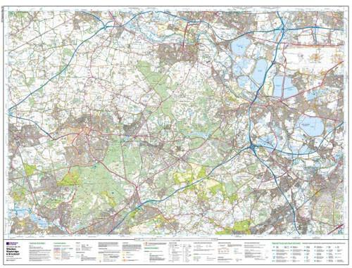 Windsor Weybridge Bracknell Explorer Map Ordnance Survey Map