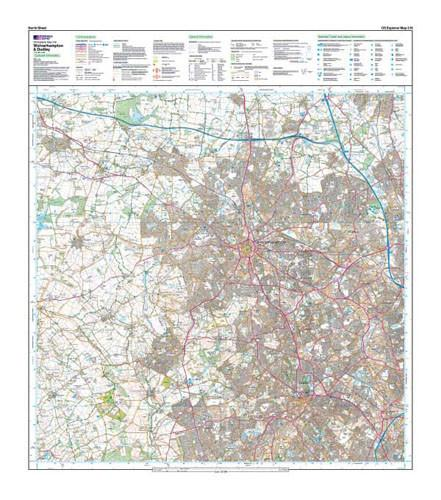 Folded Maps - Wolverhampton Dudley Explorer Map - Ordnance Survey