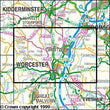 Folded Maps - Worcester Droitwich Spa Explorer Map - Ordnance Survey