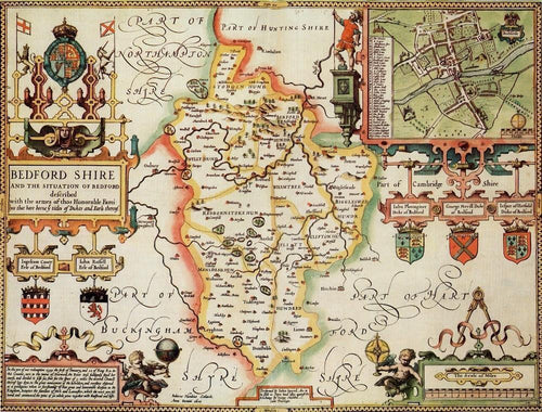 Bedfordshire Historical Map 1000 Piece Jigsaw Puzzle (1610) - All Jigsaw Puzzles