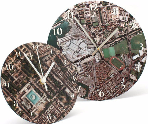 Map Gift - Aerial Photo Clock - Centred On Your Home