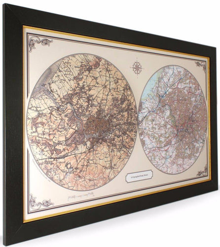 Map Gift - Duo Century Wall Map