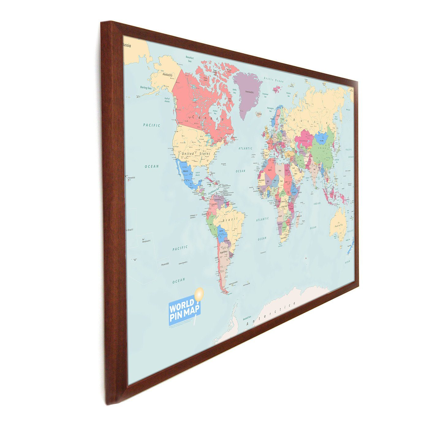 World pinboard map butler and hill map marketing map gift framed world pinboard map gumiabroncs Choice Image