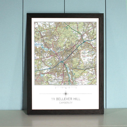 Map Gift - My Home Is Here - Personalised Wall Map