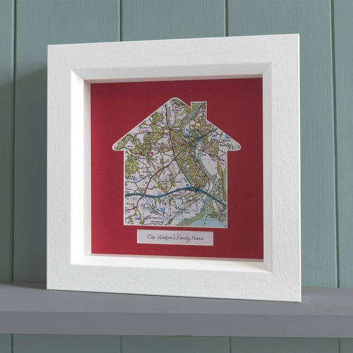 Map Gift - Our Home Deep Framed Wall Map