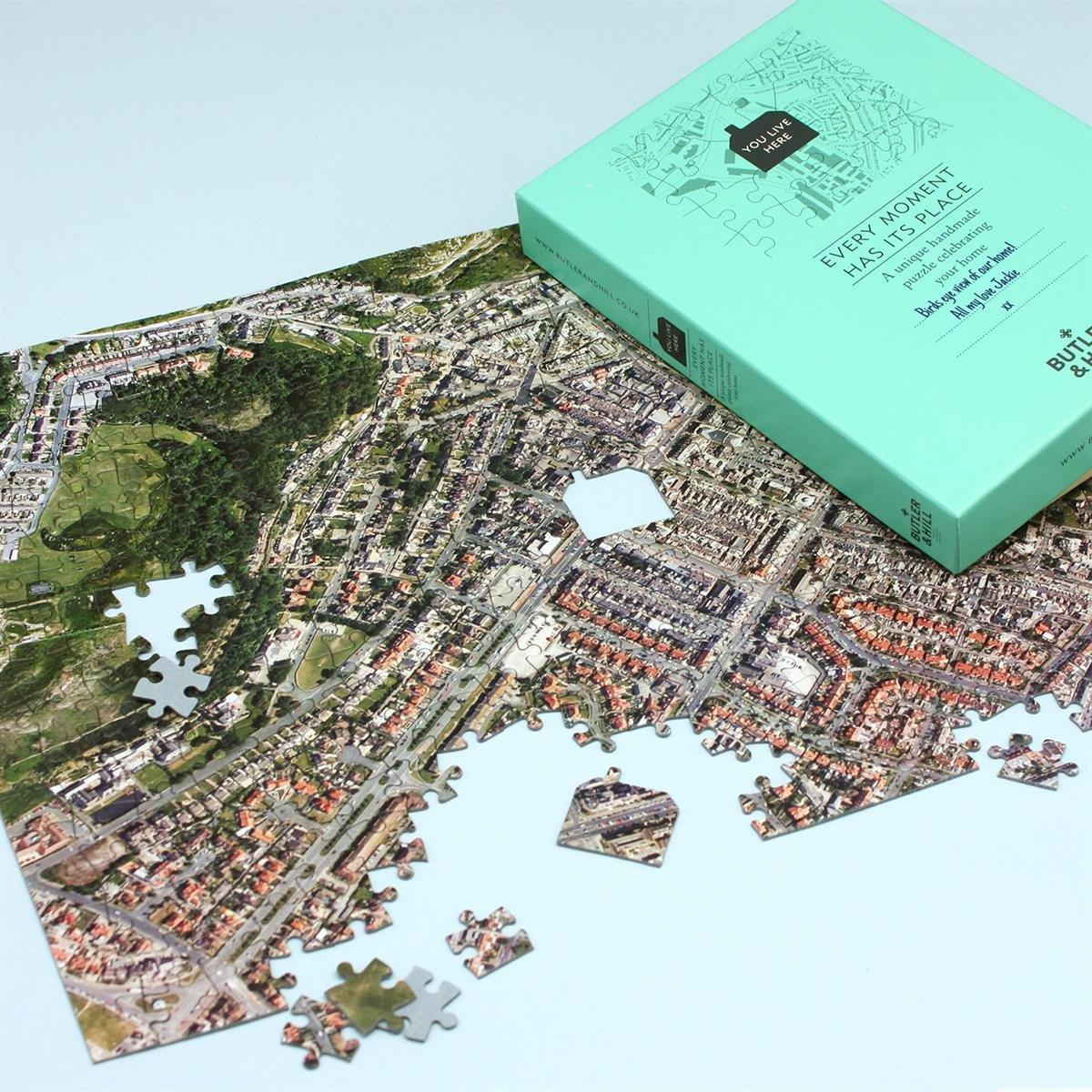 Personalised Postcode Aerial Photo Jigsaw Puzzle Map Marketing
