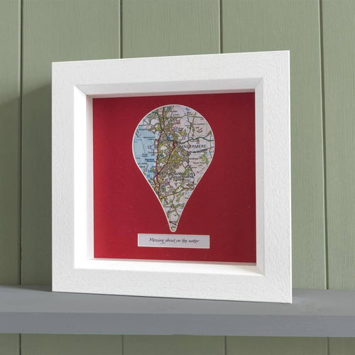 Map Gift - Personalised Framed Map Pin