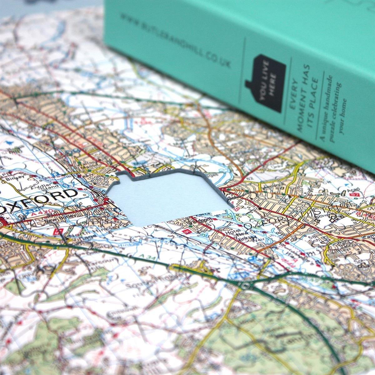 Personalised Landranger Map Jigsaw Puzzle | Map Marketing