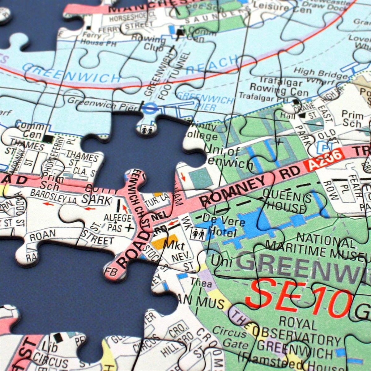 Map Gift - Personalised London Street Map Jigsaw