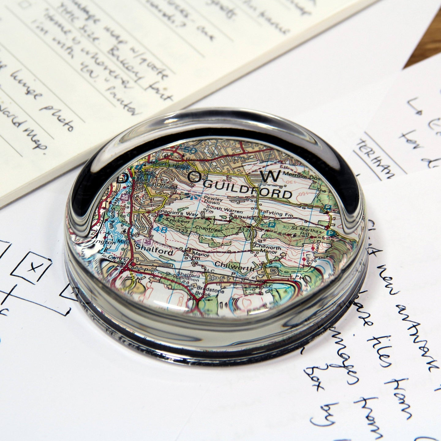 Map Gift - Personalised Map Paperweight