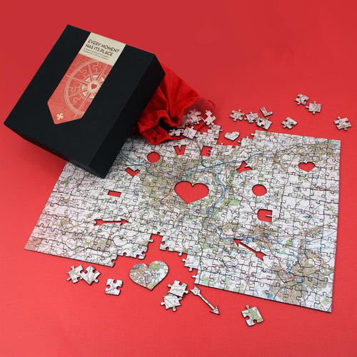 Map Gift - Personalised Special Places Wooden Jigsaw Puzzle