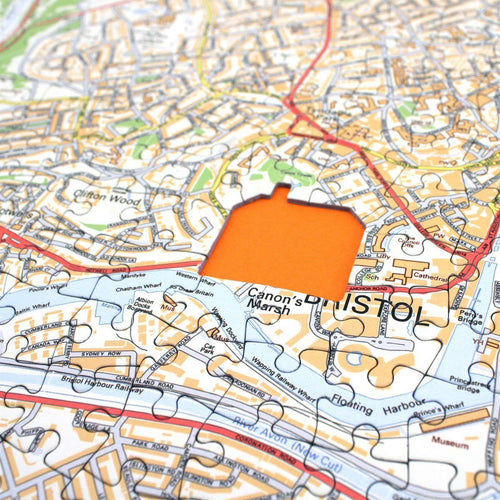 Map Gift - Personalised Streetview Map Jigsaw Puzzle