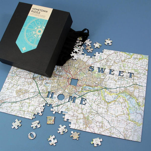 Map Gift - Personalised Wooden Hometown Jigsaw Puzzle