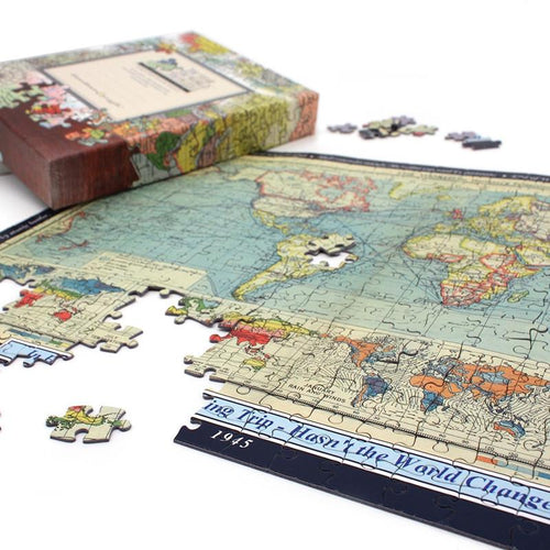 map gift personalised world map jigsaw puzzle