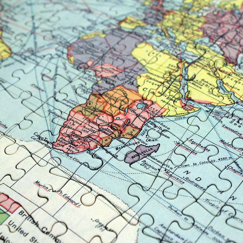 Personalised World Map Jigsaw Puzzle | Butler and Hill