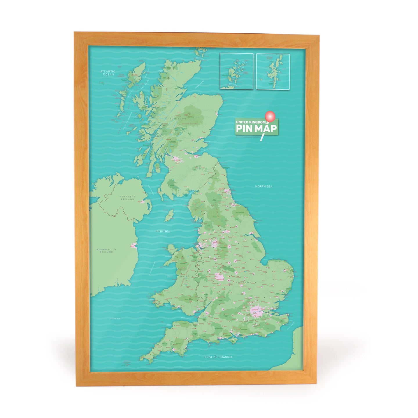 Uk pinboard map butler and hill map marketing map gift uk pinboard map gumiabroncs Gallery