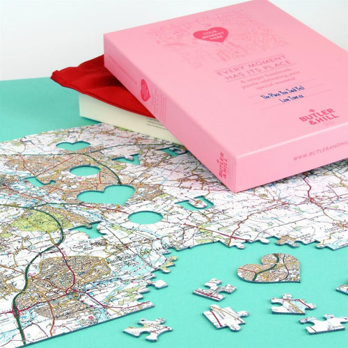 Map Gift - We First Met Here - Personalised Map Jigsaw Puzzle