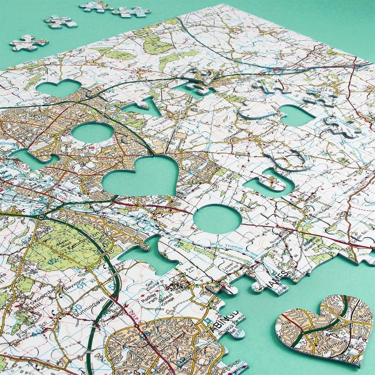 We First Met Here Personalised Map Jigsaw Puzzle   Romantic Gifts