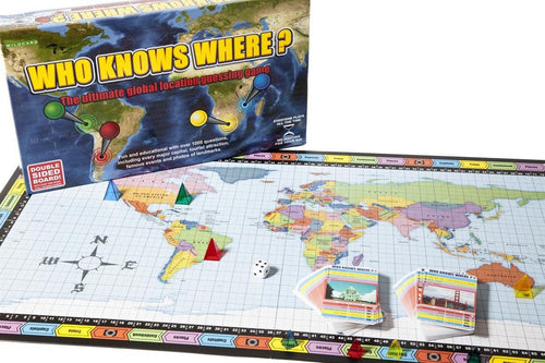 Map Gift - Who Knows Where? Global Location Guessing Board Game
