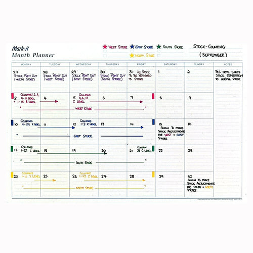 Planners - Monthly Laminated Wall Planner
