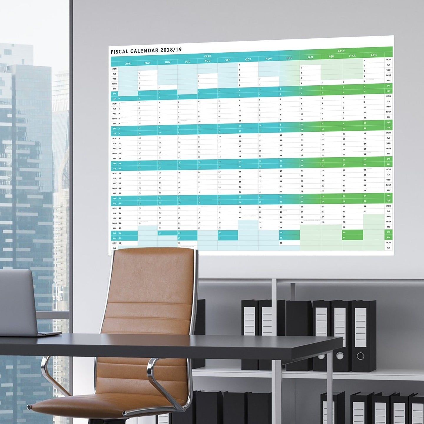 Planners - Tax Planner - 2018/9 Large Fiscal Wall Planner