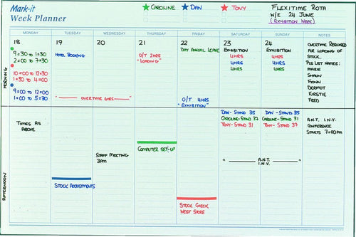 Planners - Weekly Laminated Wall Planner