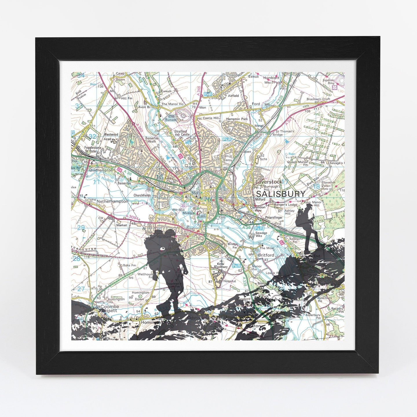 Wall Art - Personalised Hiking Adventure Map