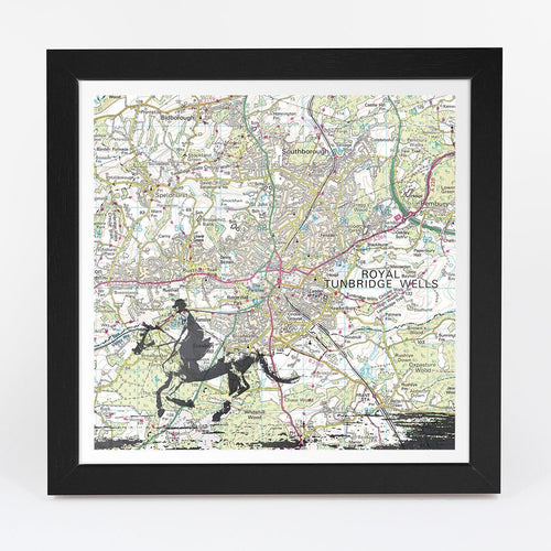 Wall Art - Personalised Horse Riding Adventure Map