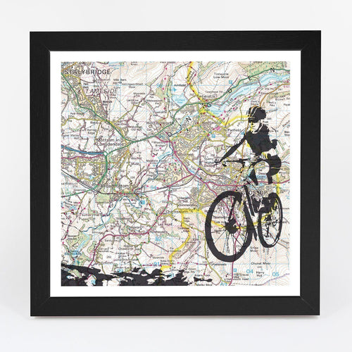 Wall Art - Personalised Mountain Biking Adventure Map