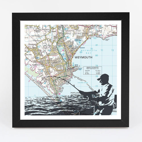 Wall Art - Personalised Sea Fishing Adventure Map