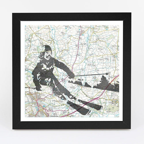Wall Art - Personalised Skiing Adventure Map