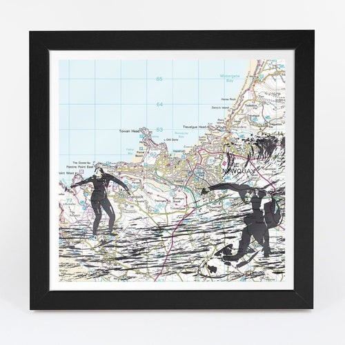 Wall Art - Personalised Surfing Adventure Map