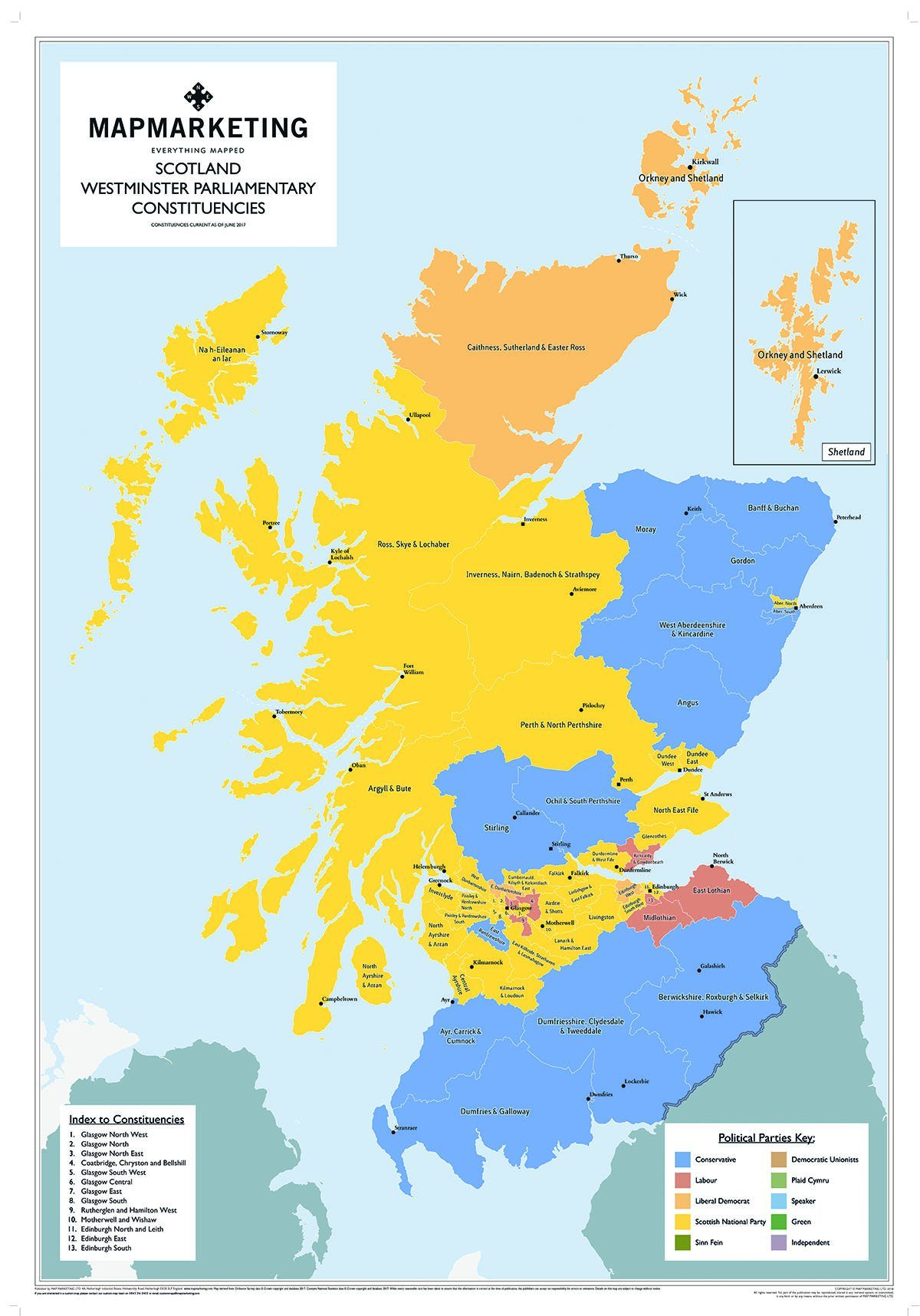 Scotland Parliamentary Map