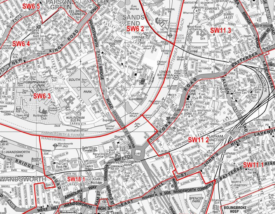 London Map Central.Central London Postcode Wall Map Sector Map 37
