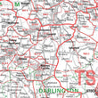 Wall Maps - Durham, Tyne And Tees (Newcastle Upon Tyne) Postcode Wall Map - Sector Map 22
